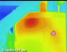 Thermography: Infrared image / thermal image: heat radiation of a boiler