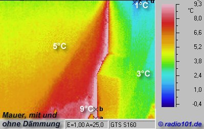 Thermal imaging of buildings: infrared / thermal image of a building